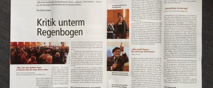 Veröffentlichung: Eventreportage in der Verdi Fachzeitschrift M